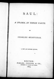 Saul by Charles Heavysege