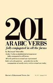 Cover of: 201 Arabic verbs