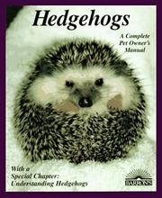 Cover of: Hedgehogs