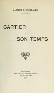 Cover of: Cartier et son temps