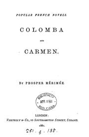 Cover of: Colomba and Carmen
