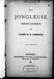 Cover of: La jongleuse: légende canadienne