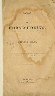 Cover of: On horseshoeing | Miles, William of Exeter.