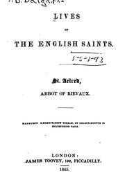 Cover of: Lives of the English Saints