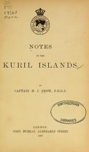 Cover of: Notes on the Kuril Islands