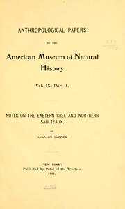 Cover of: Notes on the eastern Cree and northern Saulteaux