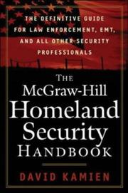 Cover of: The McGraw-Hill Homeland Security Handbook | David Kamien