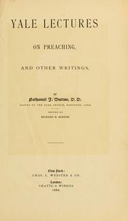 Cover of: Yale lectures on preaching | Nathaniel J. Burton