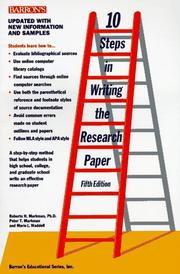 Cover of: 10 steps in writing the research paper
