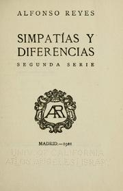 Cover of: Simpatías y diferencias