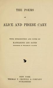 Cover of: The poems of Alice and Phoebe Cary