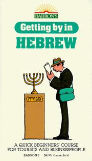 Cover of: Getting by in Hebrew