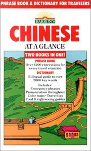 Cover of: Chinese at a glance | Scott D. Seligman