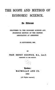 Cover of: The scope and method of economic science