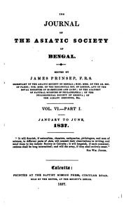 Journal of the Asiatic Society of Bengal by Asiatic Society of Bengal