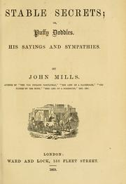 Cover of: Stable secrets | Mills, John