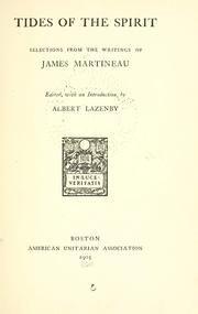 Cover of: Tides of the spirit | James Martineau