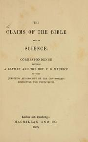 Cover of: The claims of the Bible and of science