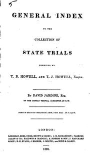 Cover of: A Complete Collection of State Trials and Proceedings for High Treason and Other Crimes and ... by Thomas Bayly Howell , William Cobbett