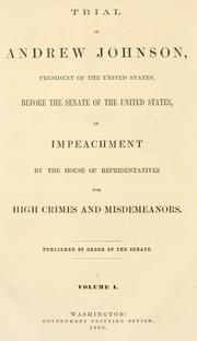 Cover of: Trial of Andrew Johnson