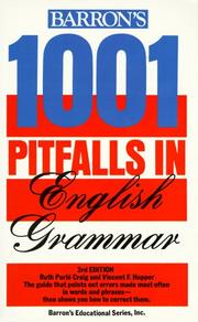 Cover of: 1001 Pitfalls in English Grammar | Hopper and Craig
