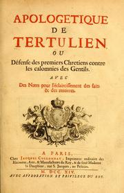 Apologeticum by Tertullian