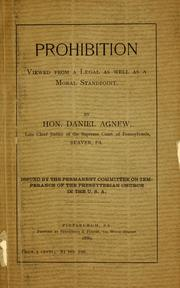 Cover of: Prohibition
