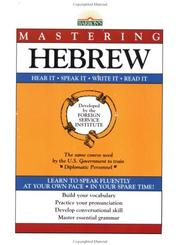 Cover of: Mastering Hebrew: Book Only (Mastering Series: Level 1) | Foreign Service Language Institute
