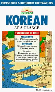 Cover of: Korean at a glance | Holt, Daniel D.