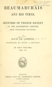 Cover of: Beaumarchais and his times | Louis Léonard de Loménie