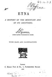 Etna, a History of the Mountain and of Its Eruptions by George Farrer Rodwell