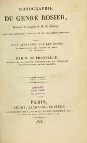 Cover of: Monographie du genre rosier