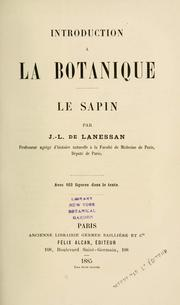 Cover of: Introduction à la botanique