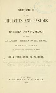 Cover of: Sketches of the churches and pastors in Hampden county, Mass. |