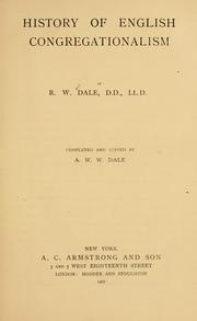 Cover of: History of English Congregationalism | R. W. Dale