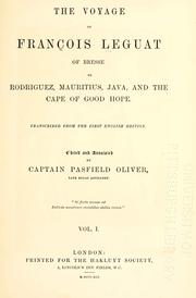 Cover of: The voyage of Francois Leguat of Bresse, to Rodriguez, Mauritius, Java, and the Cape of Good Hope