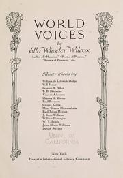 Cover of: World voices
