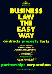 Cover of: Business law the easy way