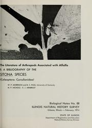 Cover of: The literature of arthropods associated with alfalfa: II. A bibliography of the Sitona species (Coleoptera: Curculionidae) |