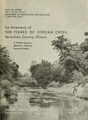 Cover of: An inventory of the fishes of Jordan Creek, Vermilion County, Illinois