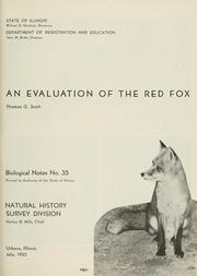 Cover of: An evaluation of the red fox