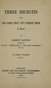 Cover of: Three recruits, and the girls they left behind them
