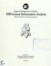 Cover of: 1990 census information analysis |