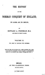 Cover of: The History of the Norman Conquest of England: Its Causes and Its Results