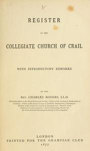 Cover of: Register of the Collegiate Church of Crail