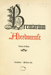 Cover of: The Roman Breviary