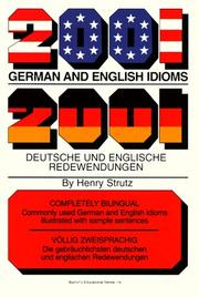 Cover of: 2001 German and English idioms =