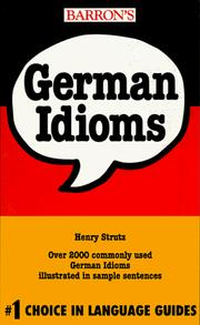 Cover of: German idioms