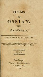 Cover of: The poems of Ossian, the son of Fingal | James Macpherson