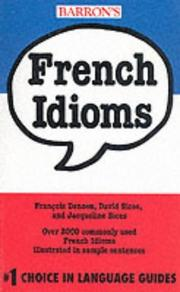 Cover of: French idioms